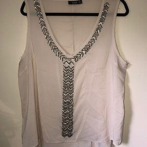 A.n.a tank top blouse with gems